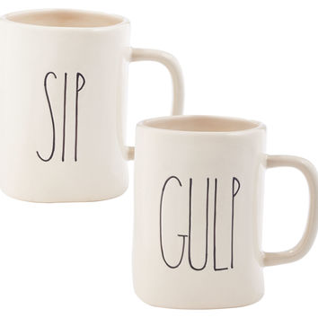 Sip & Gulp Mugs, Coffee Mugs