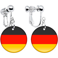 Germany Flag Clip on Earrings