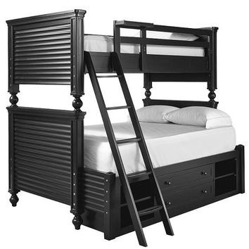 Mortimer Black Twin over Full Bunk Bed