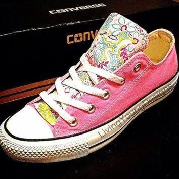 DCKL9 Custom Converse Low Top Sneakers Floral Chuck Taylors