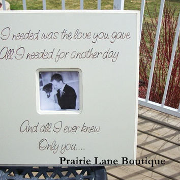 Picture Frame, 20x20, Personalized, Made to Order, Wedding Frame, Engagement, Love Quote, Nursery Art, Gift for Parents,Bride, Groom