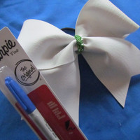 Autograph Cheer Bow by BowsItUp on Etsy
