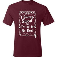 I Solemnly Swear I'm Up to No Good Potter T Shirt Gift Ideas Tee Women Mens Kids Deathly Hollows