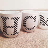 Monogram Mug | Striped Letter