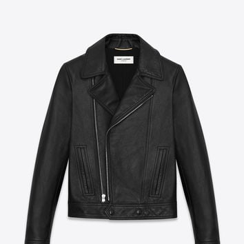 Saint Laurent Motorcycle Slouch Jacket In Black Leather - ysl.com