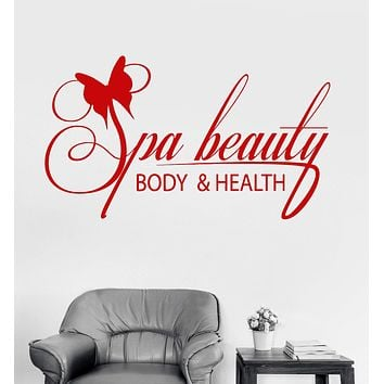 Vinyl Wall Decal Spa Salon Body Health Relax Therapy Stickers Mural Unique Gift (ig3399)
