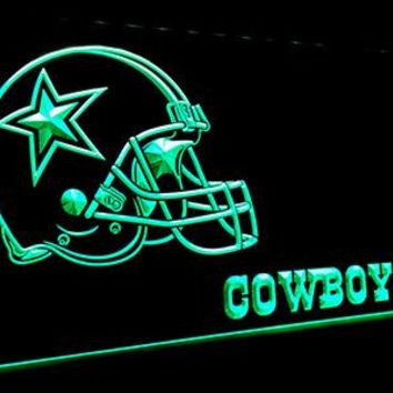 LS050-g Dallas Cowboys Helmet 3D LED Neon Light Sign Customize on Demand 8 colors to choose