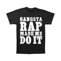 Ice Cube Men's  Gangsta Rap Made Me Do It T-shirt Black