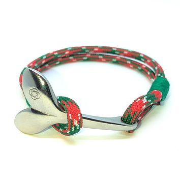 Christmas Nautical Whale Tail Bracelet Stainless Steel 069