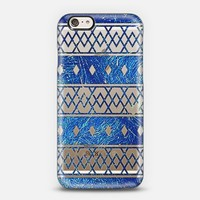 Bright Blue Triangles Aztec Abstract Pattern iPhone 6 case by Girly Road | Casetify