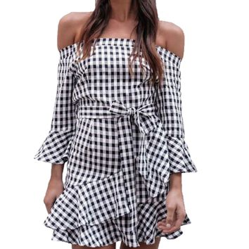 Gabby Checkered Dress