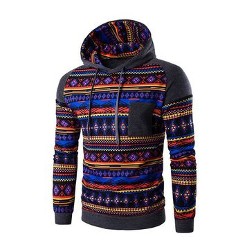 Patchwork Design 3D Ethnic Tribal Printed Hoodies Men Fashion Print Sweatshirt Man Hoody Jacket Male Pullover Tracksuit HO800125