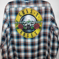 Guns N Roses GNR Reworked Vintage Flannel