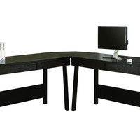 Cappuccino 3Pc L-Shaped Computer Desk (2 Desks + 1 Corner Wedge)