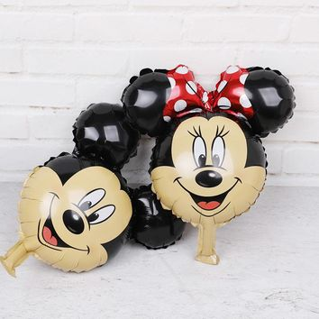 5pcs Mickey Minnie mouse party decorations Foil Balloons Disney air balloon baby shower girl boy birthday Party decorations Kids