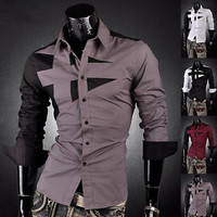 Jeansian Designed Mens Dress Shirts Tops Casual 10 Stylish Slim Fit S M L XL XXL