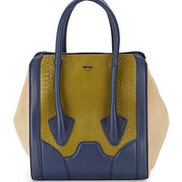 Pour La Victoire - Butler Snake-Embossed Leather Large Tote