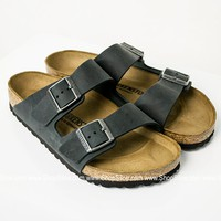 Arizona Leather Black Birkenstocks