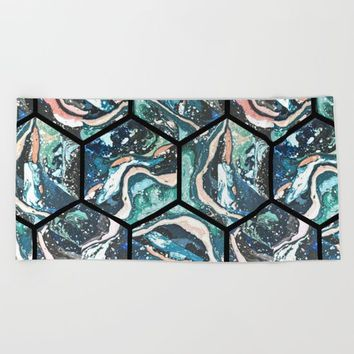 Abstract - Title- Pattern Beach Towel by Salome