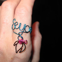 Wire Wrapped EEYORE Spelled MADE to ORDER Ajustable by 1ofAkinds