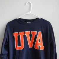 Vintage University of Virginia Long Sleeve Shirt // UVA // U Virginia vintage college shirt