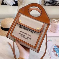 Burberry Fashion Women Shopping Leather Handbag Tote Shoulder Bag Crossbody Satchel