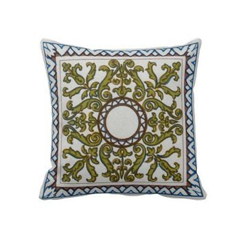 Tile and Ceramic Decoration from the Renaissance Pillow from Zazzle.com