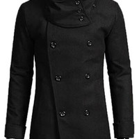 Turn-down Collar Detachable Scarf Long Sleeve Trench Coat