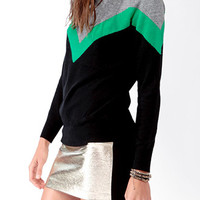 Tri-Color High Neck Sweater
