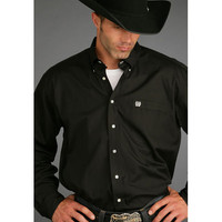 Cinch Black Pinpoint Long Sleeve Shirt