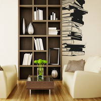 Vinyl Wall Decal Sticker Stack of Books #5062