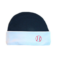 Baby Boys' Blue & White Baseball Hat