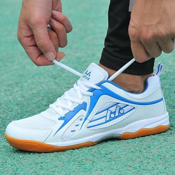 Unisex Table Tennis Shoes Spring Autumn Mens Mesh Indoor Sneakers Slip-On Women Trainers Shoes Breathable Tennis Table Shoes