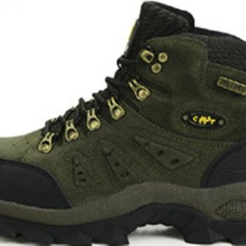 Men women Hiking Shoes Sport waterproof Leather Outdoor Shoes Mountain Climbing Boots shoes Botas Zapatos Hombre