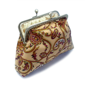 Paisley Framed Clutch Purse - Bridesmaid Clutch Purse - Wedding Clutch Purse - Evening Clutch Purse