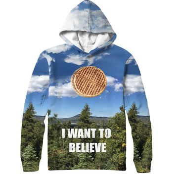 I Want To Believe Waffle Hoodie