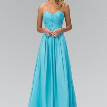 Strapless Long chiffon Bridesmaid Dress 103-gl2076