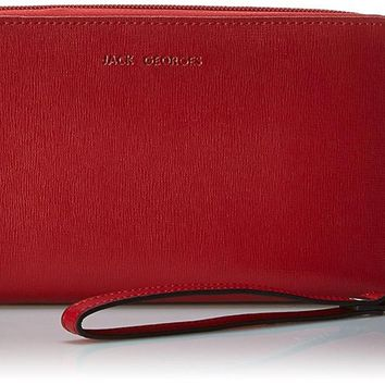 Jack Georges Chelsea Collection Large Zip Clutch Wristlet Wallet