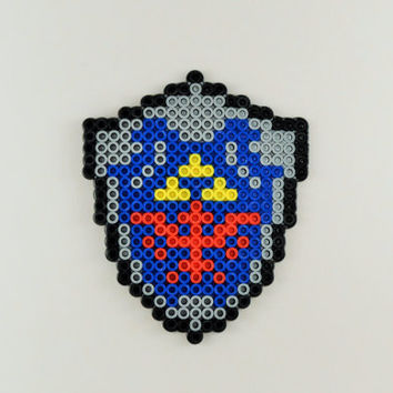 Hylian Shield Perler Sprite Magnet/Ornament