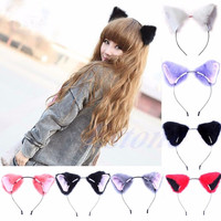 Harajuku District Japan Japanese Kawaii Neko Cat girl Fox Ear Fur hair headband anime cosplay costume