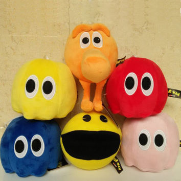 Pixels Pac-Man Doll Pokemon Plush Toys Kawaii TY Beanie Boos Stuffed Toy Anime Kids Toys 6PCS/Lots