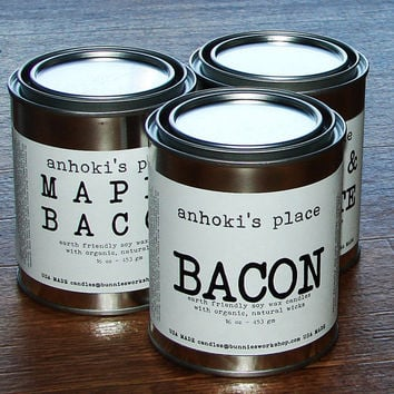 Bacon -- Bacon Scented Soy Wax Container Candle 16 oz