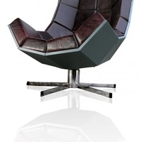 Villain Chair : Oversize leather lounger chair