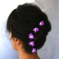 $15.00 Violet Verbena Occasional Hair Bbby Pin set of 6 by mammamiaeme