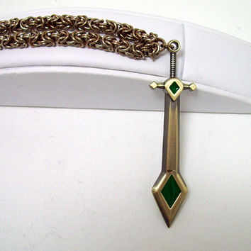 League of Legends, mens necklace, video game, sword, sword necklace, geek, LOL, Kayle, the Judicator