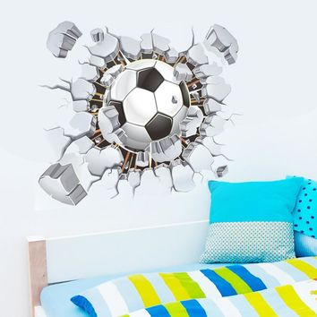 3D Football Living Room Bedroom Background Wall Sticker for Home Decoration Sticker 3D