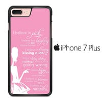 Audrey Hepburn Quotes in Pink iPhone 7 Plus Case