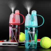 My Water bottle sport Spray bottle 400ml Cycling outdoor Moisturizing shaker Transparent Travel Plastic Water Camping Drinkware