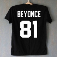 CREYIH3 BEYONCE 81 ¡¾Back?€?letter cotton short-sleeved T-shirt