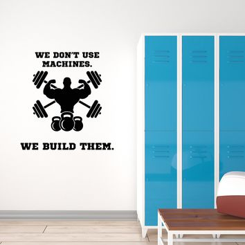 Vinyl Wall Decal Gym Motivation Quote Fitness Club Bodybuilding Sports Interior Stickers Mural (ig5700)